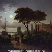 Картины и панно ручной работы. Ярмарка Мастеров - ручная работа Лунный вечер  40х54. Handmade.