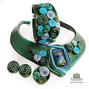 Украшения handmade. Livemaster - original item Set of jewelry made of leather
