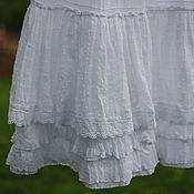 Одежда ручной работы. Ярмарка Мастеров - ручная работа Нижняя белая юбка, для БОХО ансамблей. Handmade.