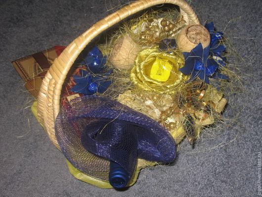 """Букеты ручной работы. Ярмарка Мастеров - ручная работа. Купить Букет из конфет """"Конфетные грезы"""". Handmade. Тёмно-синий, конфеты"""