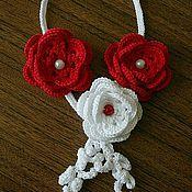 """Украшения ручной работы. Ярмарка Мастеров - ручная работа Колье """"Роза"""". Handmade."""