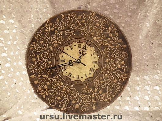 "Часы для дома ручной работы. Ярмарка Мастеров - ручная работа. Купить часы ""Старая бронза"". Handmade. Часы, часы интерьерные"