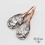 Украшения handmade. Livemaster - original item Swarovski earrings silver 925_silver earrings with Swarovski crystals. Handmade.