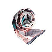 Винтаж handmade. Livemaster - original item Stylish scarf-stole with a geometric pattern. Handmade.