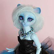 Куклы и игрушки ручной работы. Ярмарка Мастеров - ручная работа Шарнирная кошка Констанция Light Blues. Handmade.