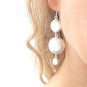 Украшения handmade. Livemaster - original item Earrings long large light visible, silver, girl, gift. Handmade.