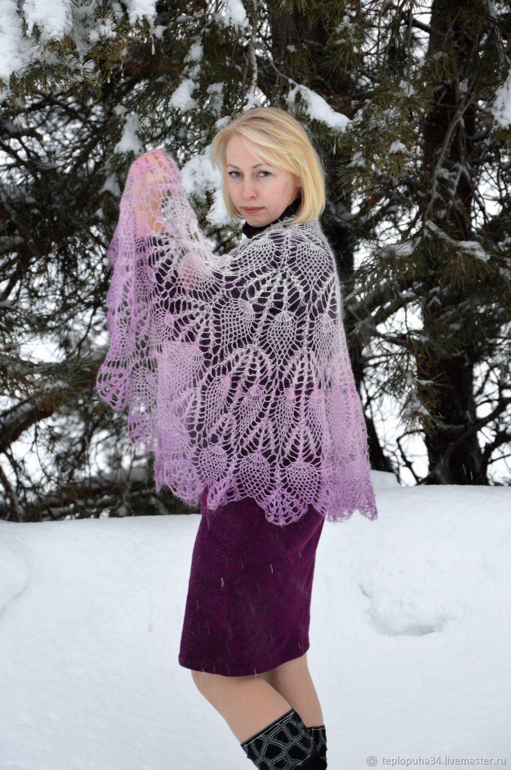 Cape 'Special occasion' on the shoulders of women's down, Shawls, Urjupinsk,  Фото №1