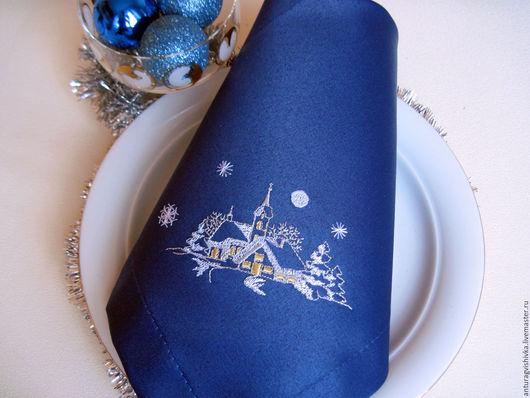 Вышитые салфетки , Салфетки с вышивкой, Новогодний интерьер, Новогодний подарок, Подарок на Новый год, Новый год, Подарок на Рождество, Рождественский подарок