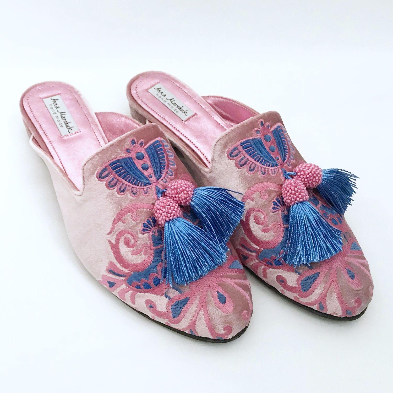 """Обувь ручной работы. Ярмарка Мастеров - ручная работа. Купить Мюли """"Восточная сказка» - розовые. Handmade. Цветы, восток"""