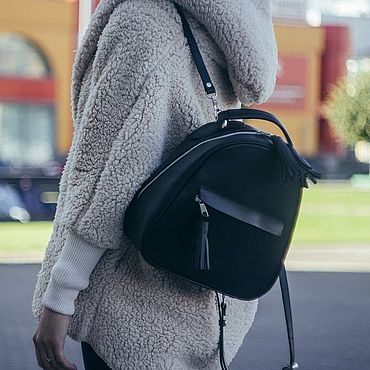 Bags and accessories handmade. Livemaster - original item Backpack leather female