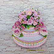 Подарки к праздникам ручной работы. Ярмарка Мастеров - ручная работа Букет конфет. Торт без выпечки.. Handmade.