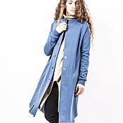 """Одежда ручной работы. Ярмарка Мастеров - ручная работа Пальто """"Люси индиго"""". Handmade."""