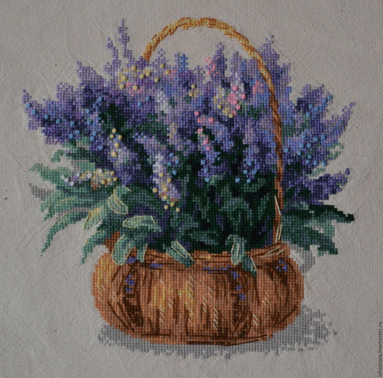 Картины цветов ручной работы. Ярмарка Мастеров - ручная работа. Купить  Французская лаванда. 53da36f7b9f6d