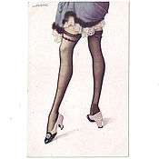 Винтаж ручной работы. Ярмарка Мастеров - ручная работа 1920-е годы. Чулочки. Ножки 1. Антикварная открытка. До 1917 года. Handmade.