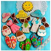 Сувениры и подарки handmade. Livemaster - original item Set of gingerbread All on the beach.. Handmade.