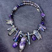 Украшения handmade. Livemaster - original item Natural stones Amethyst quartz and pearls. Handmade.