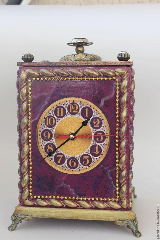 Часы для дома ручной работы. Ярмарка Мастеров - ручная работа. Купить Часы-шкатулка Возвращение в Барокко.. Handmade. Бордовый