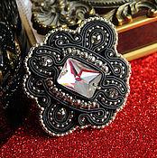 Украшения handmade. Livemaster - original item soutache brooch. brooch beads. black brooch. To buy a brooch. Handmade.
