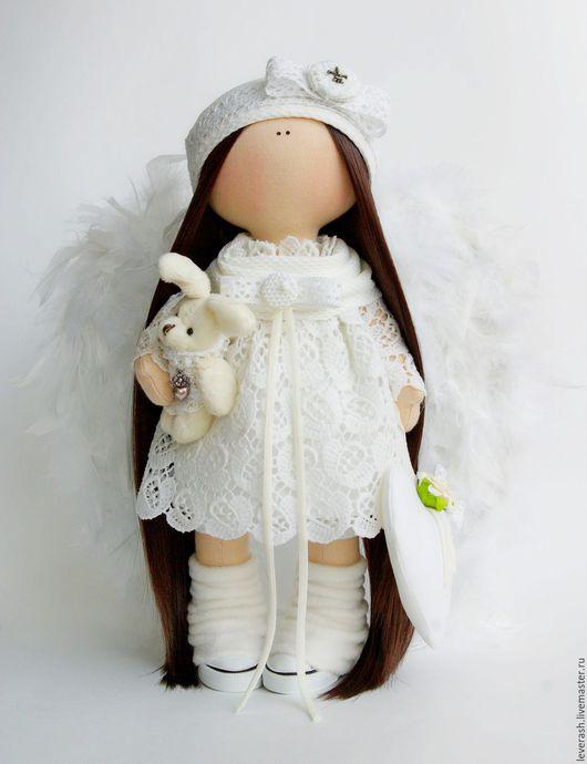 Коллекционные куклы ручной работы. Ярмарка Мастеров - ручная работа. Купить Ангел. Текстильная кукла.. Handmade. Белый, ангелок