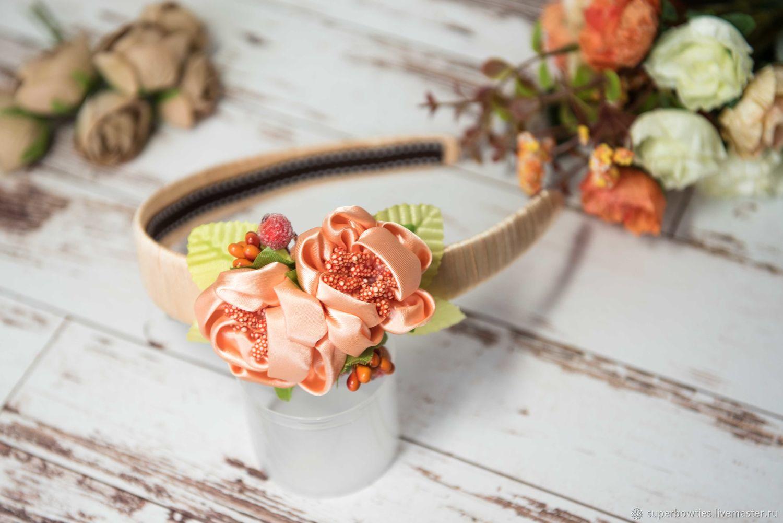 Headband Orange bouquet, Headband, Moscow,  Фото №1