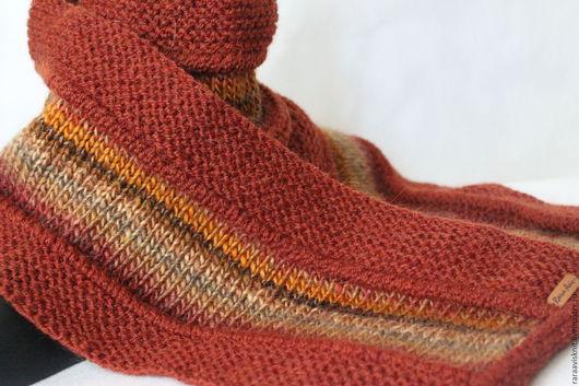 Шарф. Шарф вязаный. Вязаный шарф женский мужской.