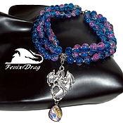 handmade. Livemaster - original item Triple necklace (women`s choker, collar) with the suspension. Handmade.