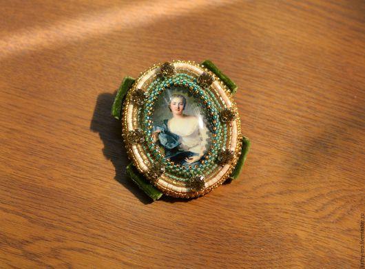 """Броши ручной работы. Ярмарка Мастеров - ручная работа. Купить Авторская брошь """"Мадам де Пленёф"""". Handmade. Комбинированный, золотой"""