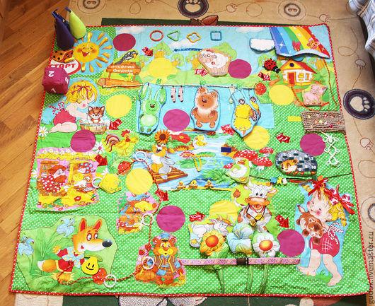 Развивающие игрушки ручной работы. Ярмарка Мастеров - ручная работа. Купить Развивающий коврик-игра для всей семьи. Handmade. Развивающий коврик