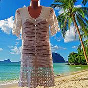Одежда ручной работы. Ярмарка Мастеров - ручная работа Пляжный халатик вязаный. Handmade.