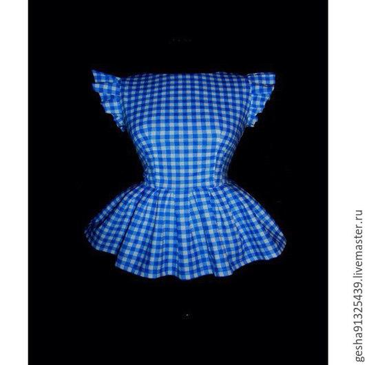 """Блузки ручной работы. Ярмарка Мастеров - ручная работа. Купить Блузка """"Лазуревые росы"""" с баской. Handmade. Голубой, купить рубашку"""