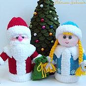 Куклы и игрушки ручной работы. Ярмарка Мастеров - ручная работа Новогодний набор интерьерных вязаных игрушек. Handmade.
