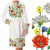 """Одежда ручной работы. Ярмарка Мастеров - ручная работа Заготовка для вышивки платья """"Полевые цветы"""". Handmade."""