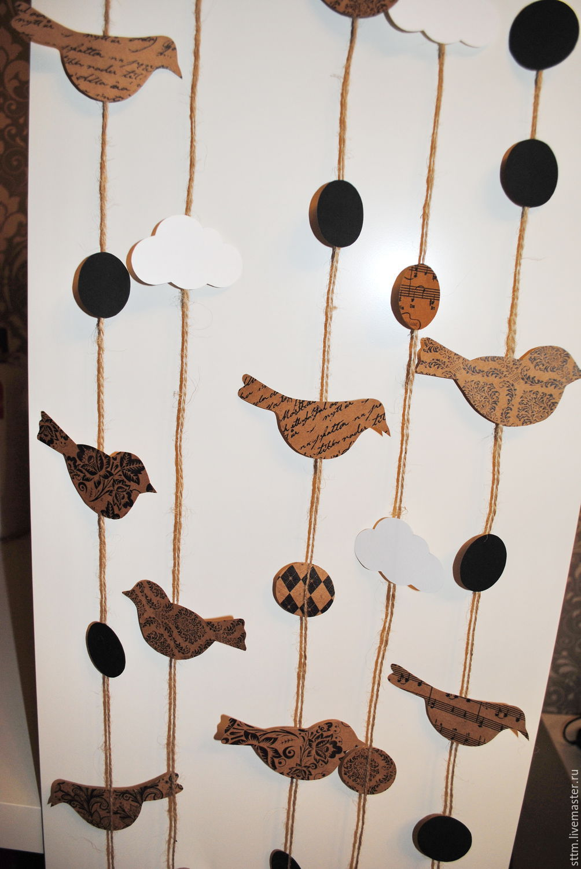 Гирлянды из птиц