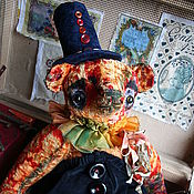 """Куклы и игрушки ручной работы. Ярмарка Мастеров - ручная работа Скидка 20% мишка тедди"""" Грустный Клоун"""". Handmade."""