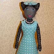 Куклы и игрушки ручной работы. Ярмарка Мастеров - ручная работа Текстильная кукла Женщина-кошка.. Handmade.