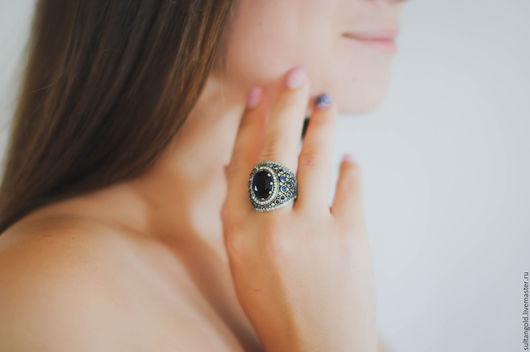 Кольца ручной работы. Ярмарка Мастеров - ручная работа. Купить Кольцо Тайна Сапфира. Handmade. Синий, кольцо великолепный век