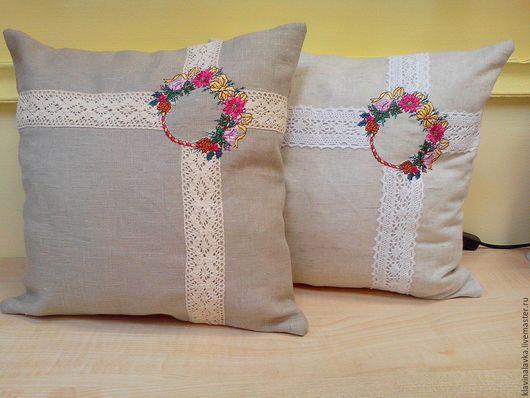Текстиль, ковры ручной работы. Ярмарка Мастеров - ручная работа. Купить Подушка с вышивкой (2 шт). Handmade. Подушка с вышивкой