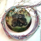 Украшения handmade. Livemaster - original item Mother of pearl pendant painted Mishkin love (Teddy Bear).. Handmade.