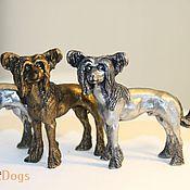 Для дома и интерьера ручной работы. Ярмарка Мастеров - ручная работа КИТАЙСКАЯ ХОХЛАТАЯ СОБАКА - статуэтка (оловянная  фигурка собаки). Handmade.