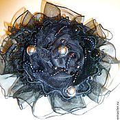 Украшения handmade. Livemaster - original item Brooch La Franse black velvet. Handmade.