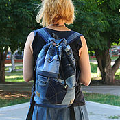 Сумки и аксессуары handmade. Livemaster - original item Backpack denim Х2. Handmade.