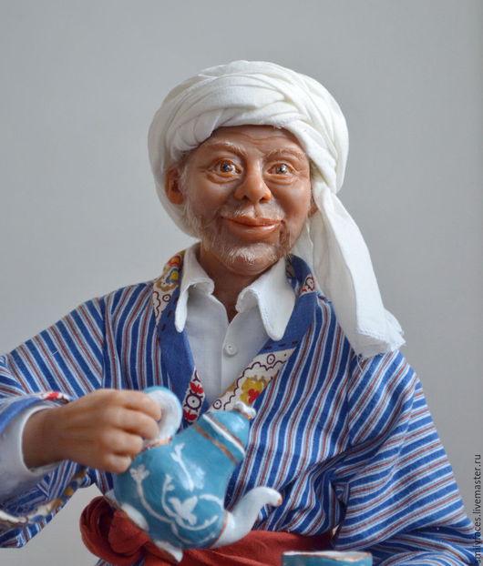 Коллекционные куклы ручной работы. Ярмарка Мастеров - ручная работа. Купить интерьерная авторская кукла Чайханщик. Handmade. Восток, подарок
