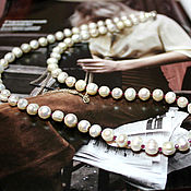 Работы для детей, handmade. Livemaster - original item Natural white pearl beads Lady inspiration. Handmade.