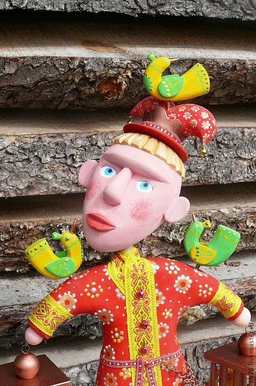 Коллекционные куклы ручной работы. Ярмарка Мастеров - ручная работа. Купить Выпускающий птиц. Handmade. Игрушка, металлическая фурнитура