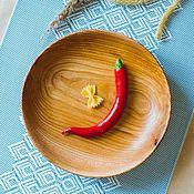 Посуда handmade. Livemaster - original item Flat wooden plate