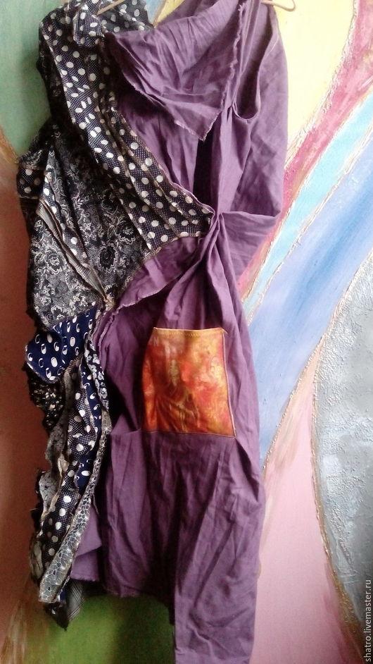 Платья ручной работы. Ярмарка Мастеров - ручная работа. Купить бохо-платье ДЗЕН. Handmade. Фиолетовый, платье коктейльное