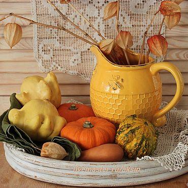 Посуда ручной работы. Ярмарка Мастеров - ручная работа Натюрморт осенний - цифровое фото. Handmade.