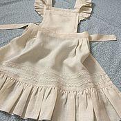 """Одежда handmade. Livemaster - original item Фартучек для девочки """" Готовлю с мамой"""", фартук для фотосессии.. Handmade."""