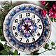 Часы для дома ручной работы. Ярмарка Мастеров - ручная работа. Купить Часы настенные. Handmade. Мандала, ручная роспись, тарелка