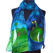 шарф шелковый по Маленькому принцу, Экзюпери, романтичный шарф